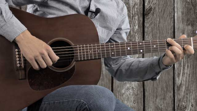 bluegrass intro guitar lick