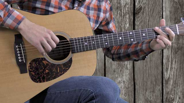 easy classic country bluegrass strumming pattern