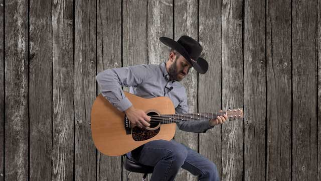easy beginner country rhythm guitar fill riffs pentatonic scales